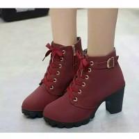 Boot Wanita Zipper | Sepatu Boots Wanita Zipper | Wedges Wanita Boots