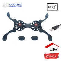 kipas laptop lipat ace cooling zonda 2led gaming bergaransi