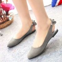 Reiv - Sweet Back Flat Shoes [Abu-Abu]