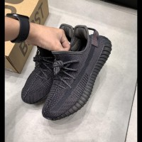 Adidas Yeezy 350 Boost V2 Static Black Laces Reflective Perfect Pairs
