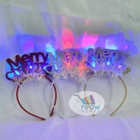 Bando / Bandana Lampu LED Glowing Merry Christmas / Natal