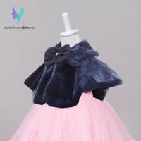 Terlaris Bolero Bulu Imitasi Hiasan Pita untuk Anak Perempuan