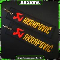 Keychain Keytags Gantungan Kunci Bordir AKRAPOVIC Premium