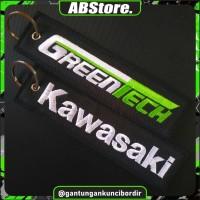 Gantungan Kunci Motor/Mobil Bordir KAWASAKI GREENTECH