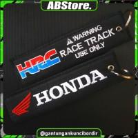Keychain Keytags Gantungan Kunci Bordir HRC HONDA RACE TRACK Premium