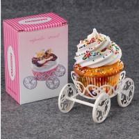 Cupcake Stand Kereta Princess Tempat Pajangan Kue Cupcake Ulang Tahun