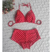 bikini set celana boxer baju renang pantai swimwear wanita B302