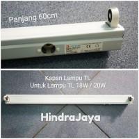 Kap Lampu TL dengan Adaptor Untuk Lampu Neon TL 18W / 20W