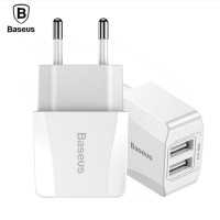 Baseus Charger Dual USB 2.1A Travel Wall Phone Charger adaptor MN02