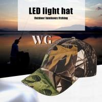 Topi Baseball dengan Lampu LED untuk Unisex / Pria / Wanita