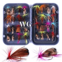 GN 32Pcs Fly Fishing Lure Set Artificial Insect Bait Trout Fly