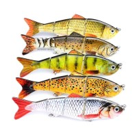GN 1 Pc 12cm Multi Jointed Bass Striper Crappie Fishing Bait Swimbait