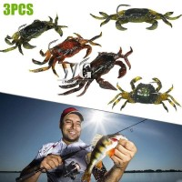 GN 3Pcs 10cm 30g Soft Fishing Lures Artificial Bait Crab with Sharp