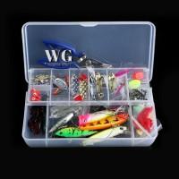 GN 101 Pcs Lure Kit Set Spinner Crankbaits Minnow Popper Paillette