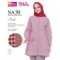 Baju atasan Nibras NA 39 - Baju kemeja muslim wanita busui katun