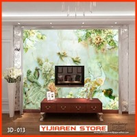 3D Wallpaper Dinding | Wall Sticker Custom|Motif Lukisan Burung 3D 013