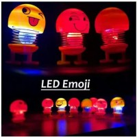 Emoji pajangan LED - boneka goyang led - spring doll emoji mobil motor
