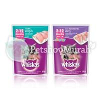 Makanan Anak Kucing Basah Saset - Whiskas Junior Tuna/ Mackarel 85 Gr - JUNIOR TUNA