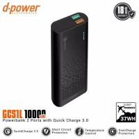Powerbank DPOWER GC51L 10000mAh 2port Fast Charging QC 3.0