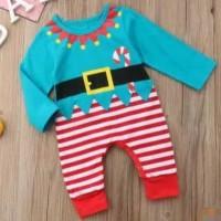 Romper jumpsuit jumper overall baju natal anak Christmas kostum santa
