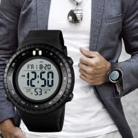 Jam Tangan Pria Digital SKMEI 1420 BLACK/WHITE water resistant 50m