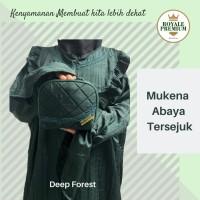 Mukena Abaya Parasut Royale Premium Deep Forest