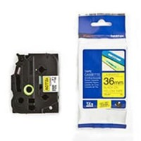 Brother label tape TZe-S661 Strong Adhesive Black On Yellow 36mm