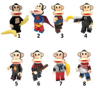 Paul Frank Julius Monkey Banana T-Shirt Monyet Kera Minifigure Lego kw