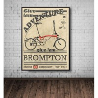 "SEPEDA BROMPTON Poster frame A3+ (30x43cm) "" BROMPTON"" SEPEDA LIPAT 5"