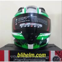 helm KYT R10 -2 WHITE BLACK GREEN FLUO