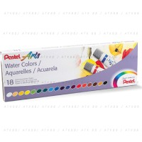 Cat Air Pentel Arts 18 Water Colours (WFRS-18)