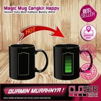 Magic Mug Cangkir Keramik Sensitif Suhu Motif Baterai - 400ml