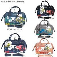Tas Wanita Anello Boston Disney Mickey Mouse Grade Ori 2 Fungsi