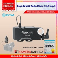 BOYA BY-MA2 Dual Channel XLR to 3.5mm Audio Mixer Adapter