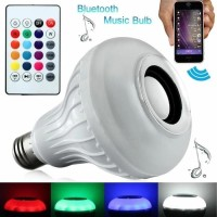 Bohlam Speaker Musik Bluetooth 2 in 1 - Lampu Speaker LED - WARNI
