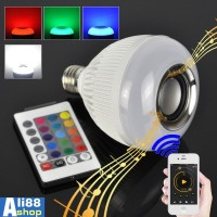 Bohlam Speaker Musik Bluetooth 2 in 1 - Lampu Speaker LED