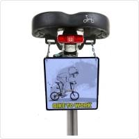 Gantungan sadel sepeda bike to work edisi sepeda lipat polygon dahon