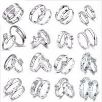 925 silver cincin berlian mode pasangan