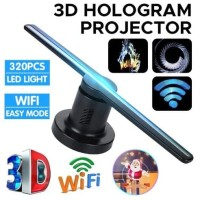Hologram 3D Fan Atau Kipas 3D Hologram ADVERTISING LED RGB Remote WiFi
