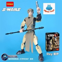 Figure Star wars lego starwars Rey decool 9017