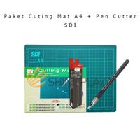 Paket Cutting Mat A4 - Pen Cutter SDI