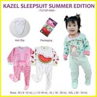 kazel sleepsuit summer edition tutup kazel bayi kaki piyama summer