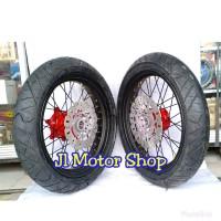 Paketan WHEELSET Honda CRF 150 L - Sepaket Velg SET Supermoto Super