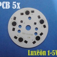 Pcb led high power led luxeon 1 - 5 watt PCB PLATE 5x (LIMA) Led F4