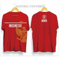Kaos Distro Indonesia Garuda Emas Merah