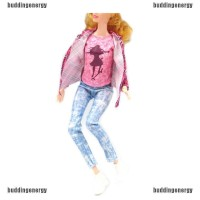 BUDD id 1set doll clothes outfit casual pants coat shirt for barbie do