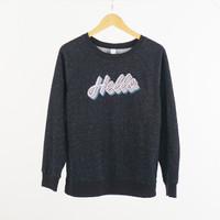Sweater Wanita - Old Navy Sweatshirt Relaxed Women Graphic Crew Neck