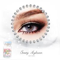 Lihazra Softlens Sweety Hydrocor Gray & Brown 14.5mm Minus 0-6