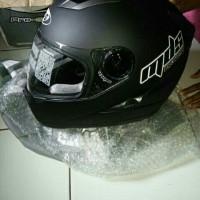 Helm Double Visor - MDS Provent Black Doff ( Helm Full Face Sporty )