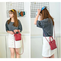 T083 Tas Selempang Pita Mini Lucu Simple NEW FASHION WANITA KOREA